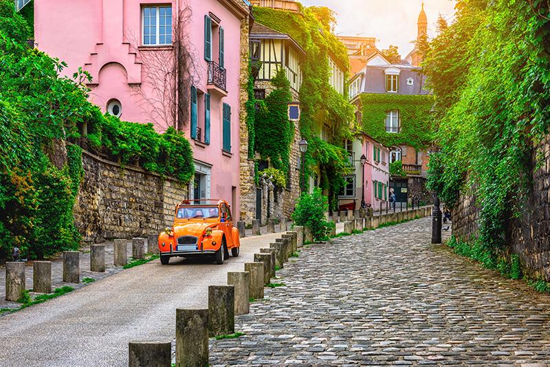 paris- route butte montmartre
